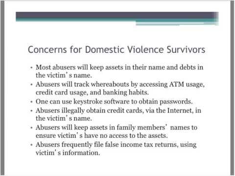Credit Reporting Law and Advocacy for Survivors