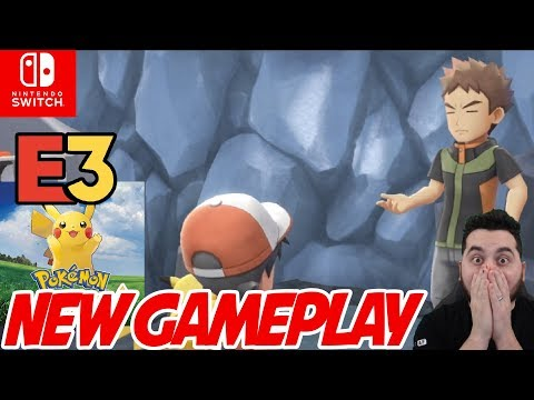 New Pokemon Gameplay! Pokemon E3 Full Presentation for Pokemon Let's Go Pikachu and Eevee! | Pokemon: let's go pikachu!