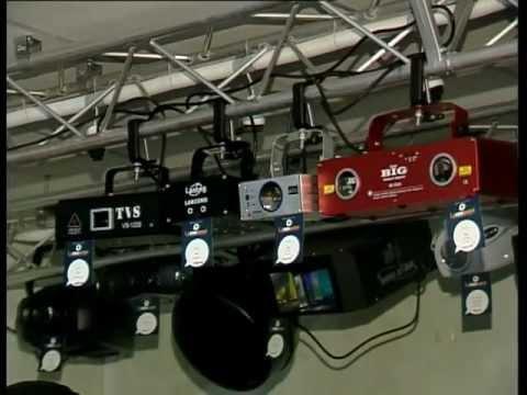 Lacommusic на ЛОТе, световое оборудование