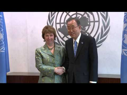 Catherine ASHTON mets with BAN Ki-moon, UN secretary General in New York