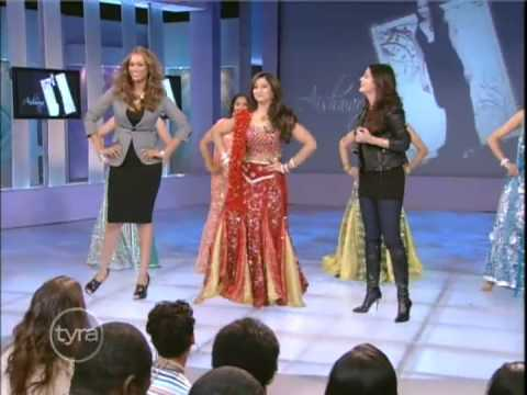 Tyra and Pink Panther 2 Actress Aishwarya Rai Learn A Bollywood Dance