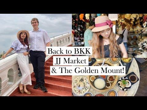 [THAILAND VLOG] EP.1 กลับเมืองไทย เที่ยวตลาดจตุจักร กินชาบู ปีนภูเขาทอง!