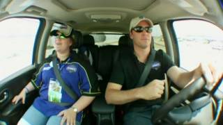 My Wish: Jimmie Johnson Drives Jennifer Around Darlington Raceway
