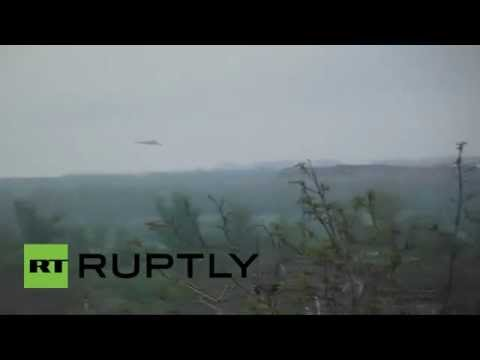 Video: Ukraine army helicopter flying low over Slavyansk during 'special op'
