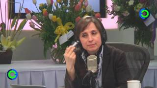 Carmen Aristegui regresa a su cabina de radio en MVS Noticias