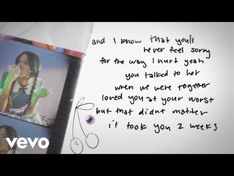 Download Lagu Olivia Rodrigo - traitor (Lyric Video).mp3