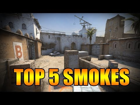 CS:GO - NEW DUST 2 - TOP 5 SMOKES AT THE MOMENT