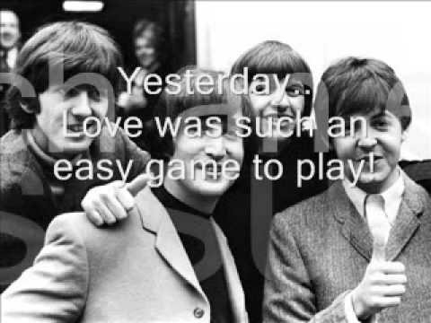 Yesterday-Beatles Lyrics