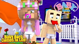 BABY LITTLE KELLY'S BABY BORN DOLL COMES TO LIFE! | Minecraft Little Kelly