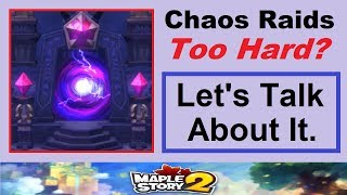 """Are Chaos Raids """"Too Hard""""? Let's Talk About It. (Maplestory 2 Discussion Video)"""