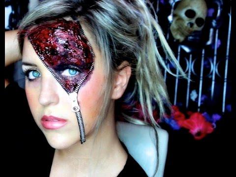 Zipper Halloween Makeup Look
