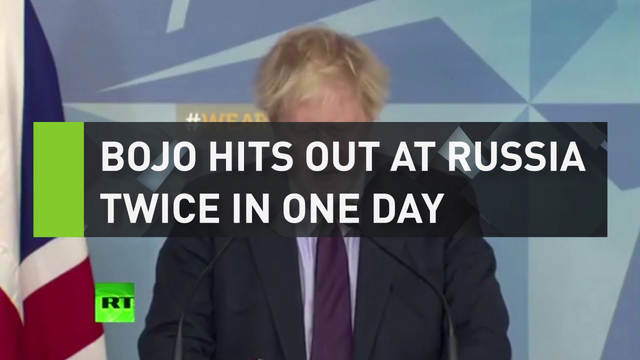 BoJo hits out at Russia twice in one day