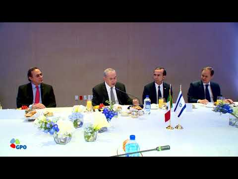 PM Netanyahu Meets Leading Mexican Businesspeople
