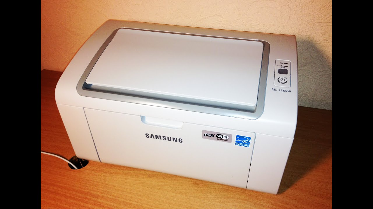 samsung ml 2165w wireless laser printer unboxing youtube. Black Bedroom Furniture Sets. Home Design Ideas