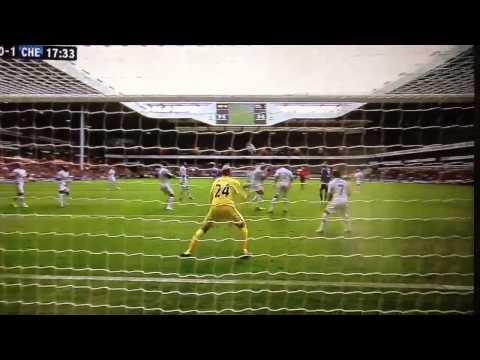 Tottenham Vs Chelsea 0-1 Gary Cahill Amazing Volley Goal !!! [HD]