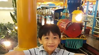 Train Ride for Kids! Festival mall amusement park indoor playground