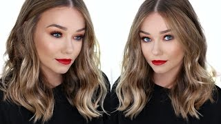 How To Curl Your Hair With A Straighteners/ Flat Iron | EASY, Messy, Chic, Waves