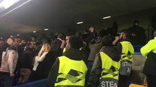 PAOK fans at Stamford Bridge Chelsea vs PAOK Europa league 29/11/2018