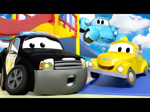 หน่วยลาดตระเวนรถ ???? ต้อนรับเปิดเทอม - สัญญาณเตือนไฟไหม้ ???? การ์ตูนรถตำรวจและรถดับเพลิงสำหรับเด็ก