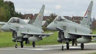 Cum feel the jet noise!! Eurofighter Typhoon Take-off Compilation