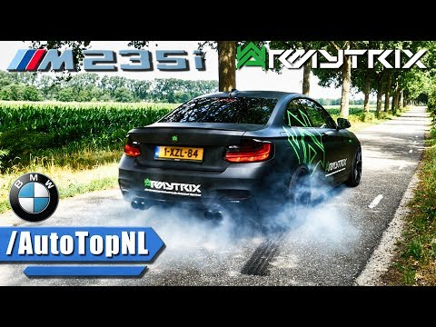 BMW M235i ARMYTRIX Exhaust SOUND Drive BURNOUT & LOUD Revs By AutoTopNL