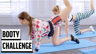 BOOTY CHALLENGE! Amanda Cerny ft. GUESS Models | Glute Work Out Fitness Routine 2018
