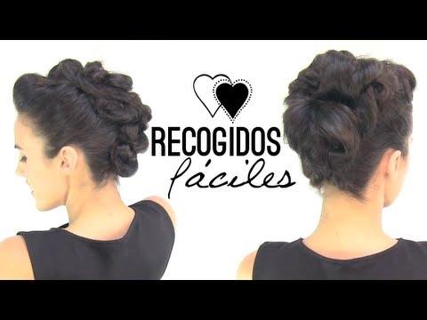 C mo hacer recogidos f ciles youtube - Como hacer peinados faciles ...