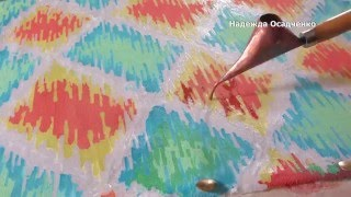 DIY how to draw on fabric ikat wax resist painting on cotton step by stepwax painting on fabric