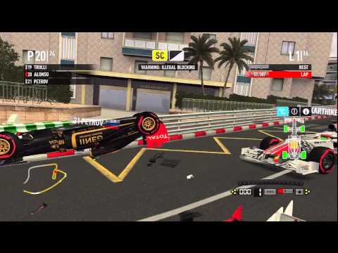 F1 2011 - How to get a Red Flag at Monaco