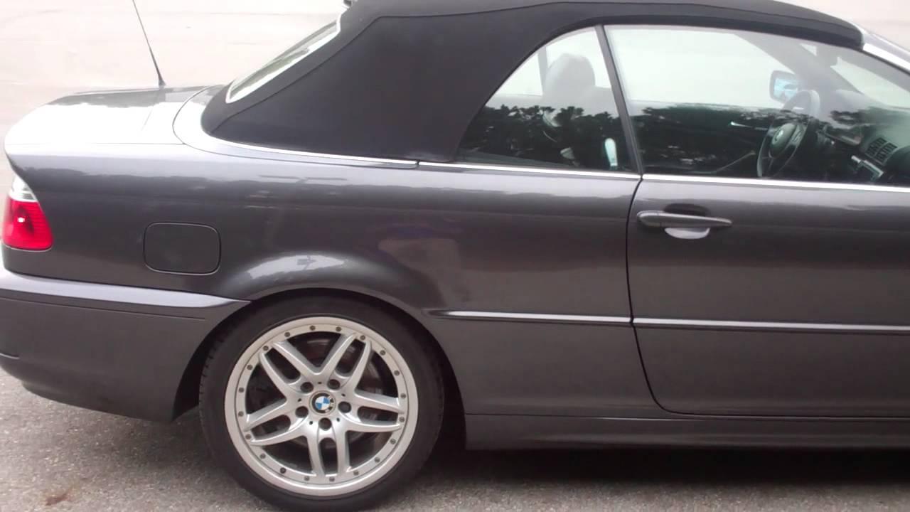 2005 bmw 330ci convertible silver black 6 speed sport. Black Bedroom Furniture Sets. Home Design Ideas
