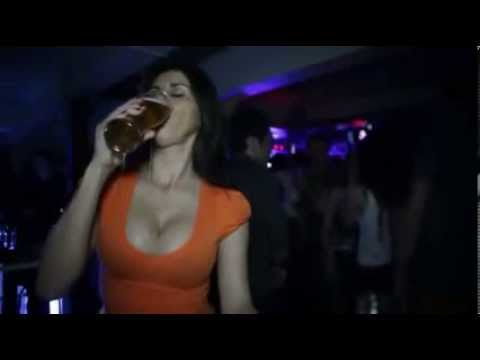 Beautiful Girl Drink Beer And Wetted All(very Sexy) video