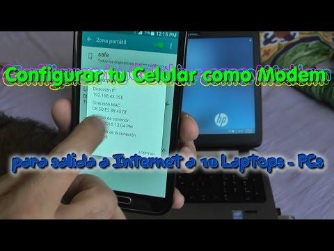 Configura tu Celular como Modem para salida a Internet para 10 Laptops - PCs - Celulares o Tablets