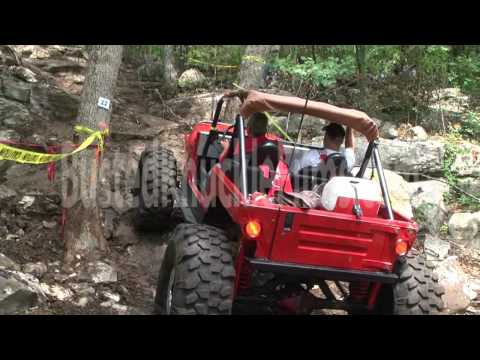 Big Red Jeep at Crusher Ridge rockcrawler park