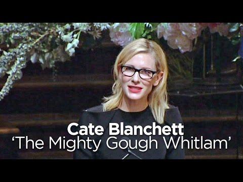 Cate Blanchett thanks Gough Whitlam for free education
