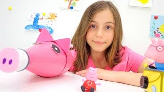 Свинка Пеппа и подружка Вика - делаем игрушку своими руками. Идеи для детей.