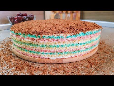 ТОРТ БЕЗ ВЫПЕЧКИ ЗА 15 МИНУТ. Вафельный торт из готовых коржей
