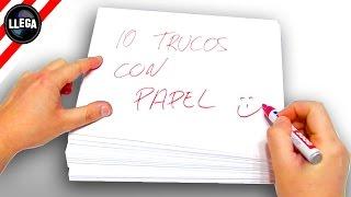 10+1 Trucos Con Papel | Truco Apuesta Magia