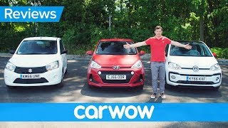 Volkswagen Up! vs Hyundai i10 vs Suzuki Celerio review - which is best? | Head2Head