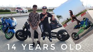 Meet The World's Youngest Professional Bike Stunter  (14 Years Old)