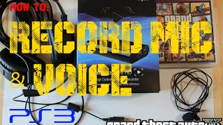 How to record capture Mic & Voice Game Chat Elgato game Capture HD live commentary set up GTA 5 PS3