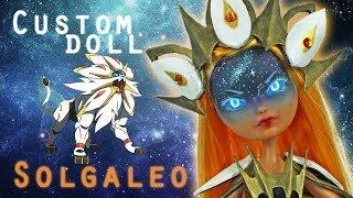 [POKEMON ZODIAC #1] Custom Doll Repaint! Pokemon Solgaleo Summer Collaboration MH/EAH OOAK