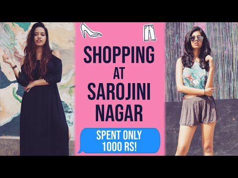 1000 Rupee Shopping Challenge In Sarojini Nagar Ft Debasree Banerjee |Sejal Kumar