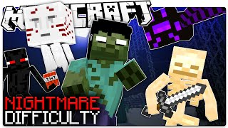 Hard Mode Too Easy? Try a NEW Minecraft Difficulty... NIGHTMARE MODE (Custom Command)