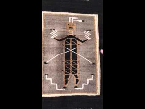Navajo rug. Hero Twin Monster Slayer circa 1930