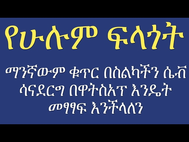 [Amharic] How to Send a WhatsApp Message Without Saving the Contact