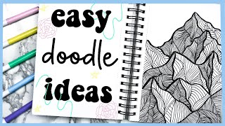 10 EASY Drawing/Doodle Ideas to Try When You're Bored at Home