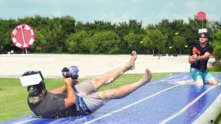 Download Song Nerf Slip and Slide Battle | Dude Perfect Free StafaMp3