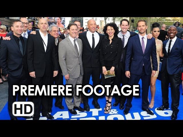 Fast & Furious 6 Premiere Footage
