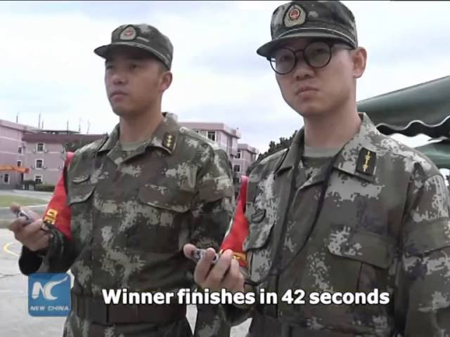 "Chinese armed police act out ""Fast & Furious"""