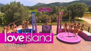 Villa games: Who can pole dance the best? | Love Island Australia 2018